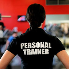 Personal Trainer with t-shirt